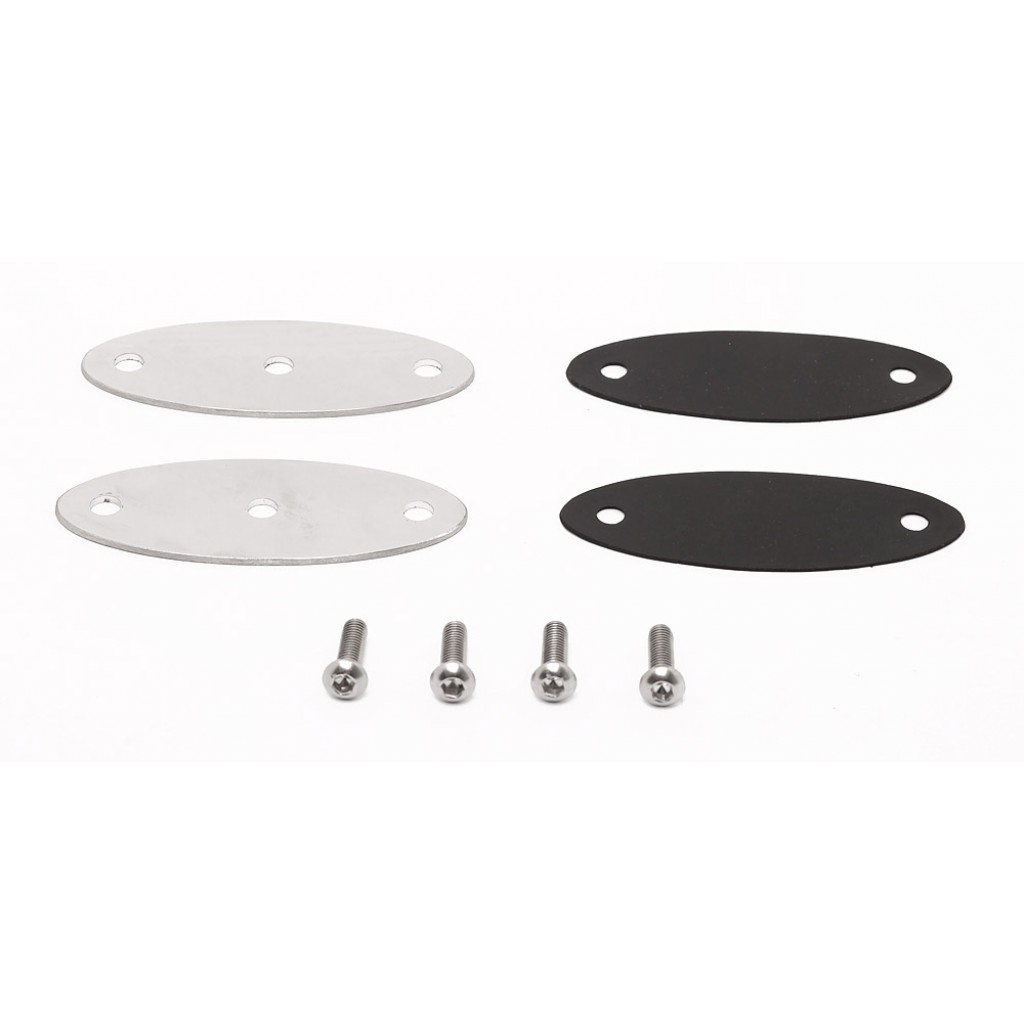 Side Mirror Mounts, Polished Stainless Steel, 7mm Mounting Hole